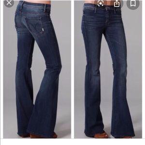 Mother curfew flare leg bellbottom Jeans moontide